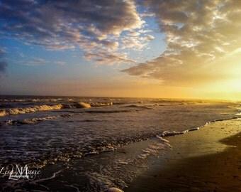 Landscape photograph of sunset in South Carolina