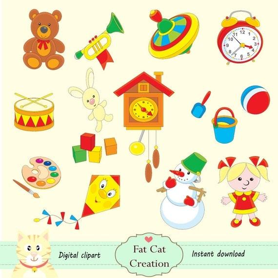 Kinder spielzeug clipart digitale illustration