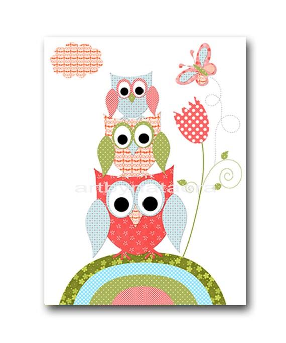 Owl Decor Owl Nursery Printable Nursery Art Kids Art Digital