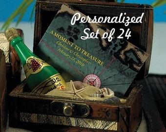 Personalized Wedding Favor - Wedding Favor Box - Miniature Treasure Chest - Set of 24 - Mini Treasure Chest - Favor - Favour - Favours