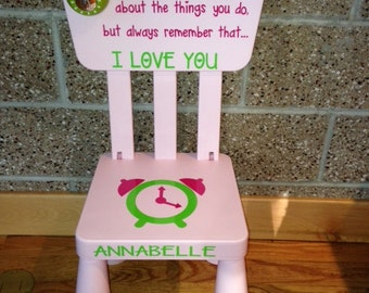 SALE Personalized Light Pink Time Out Plastic Toddler Chair With Working Timer