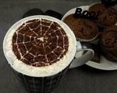 Spider web - coffee stencil, cake stencil, cupcake stencil