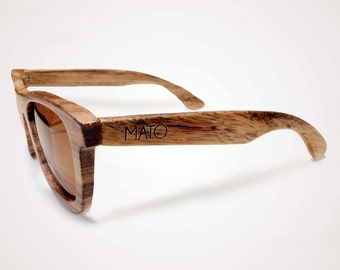 Holiday Sale Mato Handmade Eco-friendly Fashion Bamboo Wayfarer Wooden Sunglasses