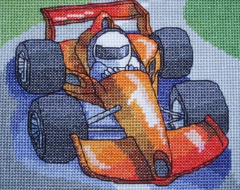 KL69 Racing Car Counted Cross Stitch Kit