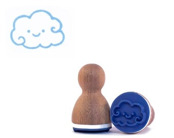 Happy cloud rubber stamp