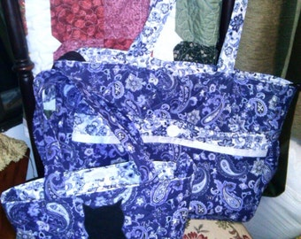Custom quilted tote bag the way you want it, made with 100% cotton quilting fabric