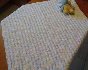 Baby Blanket, pastel colors