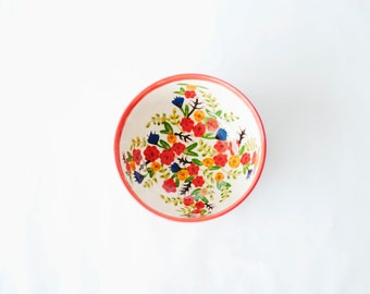 ceramic cereal bowl in bright red