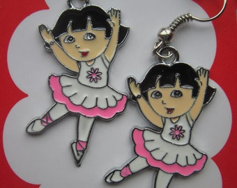 Dora ballerina earrings