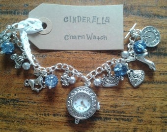 Cinderella inspired Charm Bracelet Watch