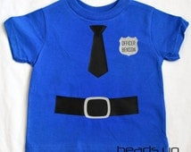 Toddler Policeman Shirt Personalized - Baby Policeman Onesie - Baby Cop Onesie - Personalized Policeman Costume Adult - Long Sleeve -