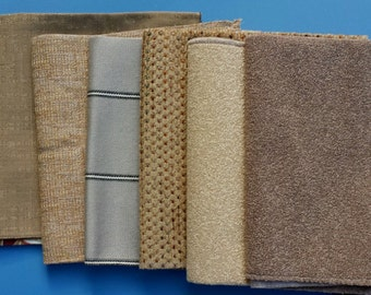 Set of Seven- 17in x 17in Upholstery fabric Squares- A4