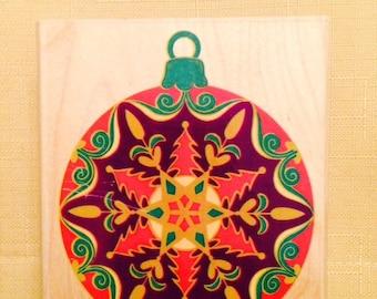 Rubber Stampede - A1057H - Star Flake Ornament