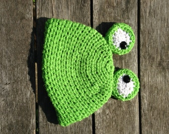 Little Froggie Crochet Beanie