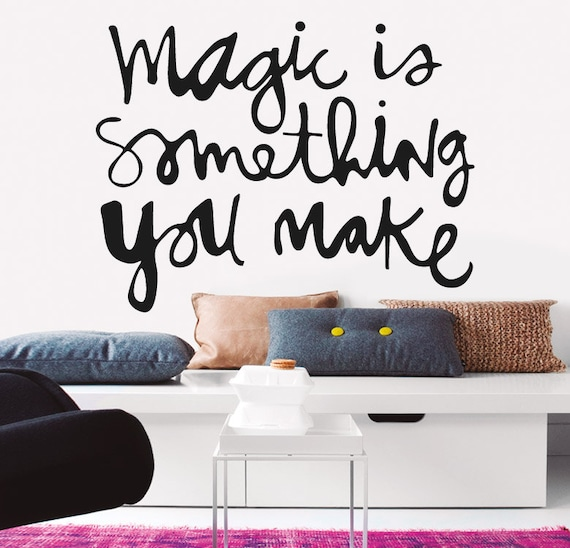 Beautiful quote wall decal for living room by for Decoracion de interiores frases