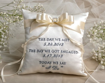 Customized Wedding Ring Pillow Singapore: The most beautiful wedding rings  Customized wedding ring pillow    ,