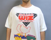 WOODSTOCK '94 Vintage Soft Cotton T Nobody Beats the Wiz HIPPY Festival Tee Shirt size Large