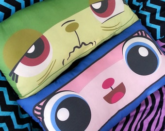 1 queasy kitty & Astro unikitty Double-sided cotton pillow inspired by the LEGO Movie! 11 x 20 inch super soft body pillow cushion cat face