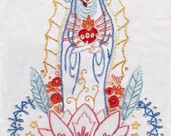 Our Lady PDF Embroidery pattern