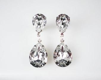 Crystal Rhinestone Earrings Wedding Jewelry Bridesmaid Earrings Swarovski Crystal