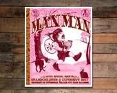 Man Man Screenprinted Concert Poster