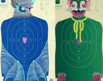 Gift Certificate for Custom Hand-Painted Paper Shooting Targets