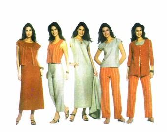 Misses Dress Top Pants Jacket Vest Simplicity 5070 Sewing Pattern Size 10-12-14-16-18 OR Full Figure Size 20 - 22 - 24 - 26 - 28 UNCUT