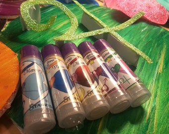 Set of Sailor Scouts Lip Balms - The  Inner Senshi - Sailor Mercury, Sailor Venus, Sailor Moon, Sailor Mars, Sailor Jupiter