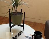 Sadilica Steel : Mid Century planter stand by Jonathan Sebastian