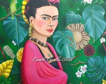 Frida Kahlo - Original 14 x 18 painting