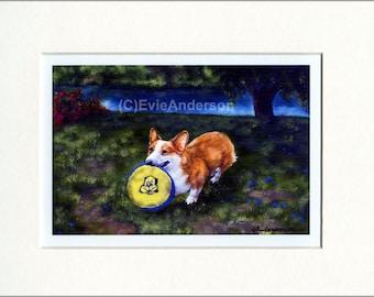 "Evie Anderson Welsh Corgi Art SIGNED PRINT ""Short Friend""  (quality, signed, matted) Pembroke Dogs"