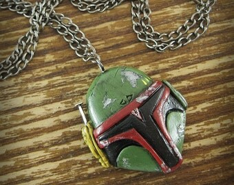 Boba Fett Inspired Polymer Clay Necklace