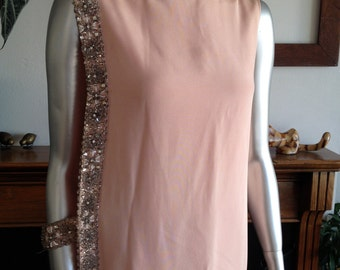 Malcolm Starr 1960s Pink Sleeveless Long Gown