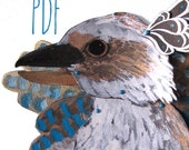 PDF Kookaburra Man Articulated Paper Doll / Hinged Beasts Series
