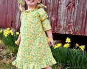 Easy Sewing PDF Pattern - Peasant Dress Pattern PDF - Baby and Toddler - Beginner