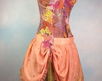 Dream Bohemian Peachy Keen Gypsy Princess Fairy Flutter Tea Dress