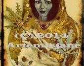 Photograph Sculpture Coptic Sarcophagus Cover Self Portrait Human Alchemy