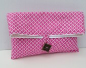 Makeup Bag - Accessory Storage - Clutch Purse - Small Bag - Radiant Orchid - Pink