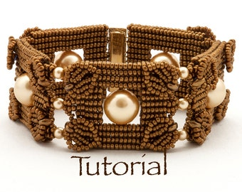 Seed Bead-Woven Bracelet Tutorial Pearls Squared Digital Download