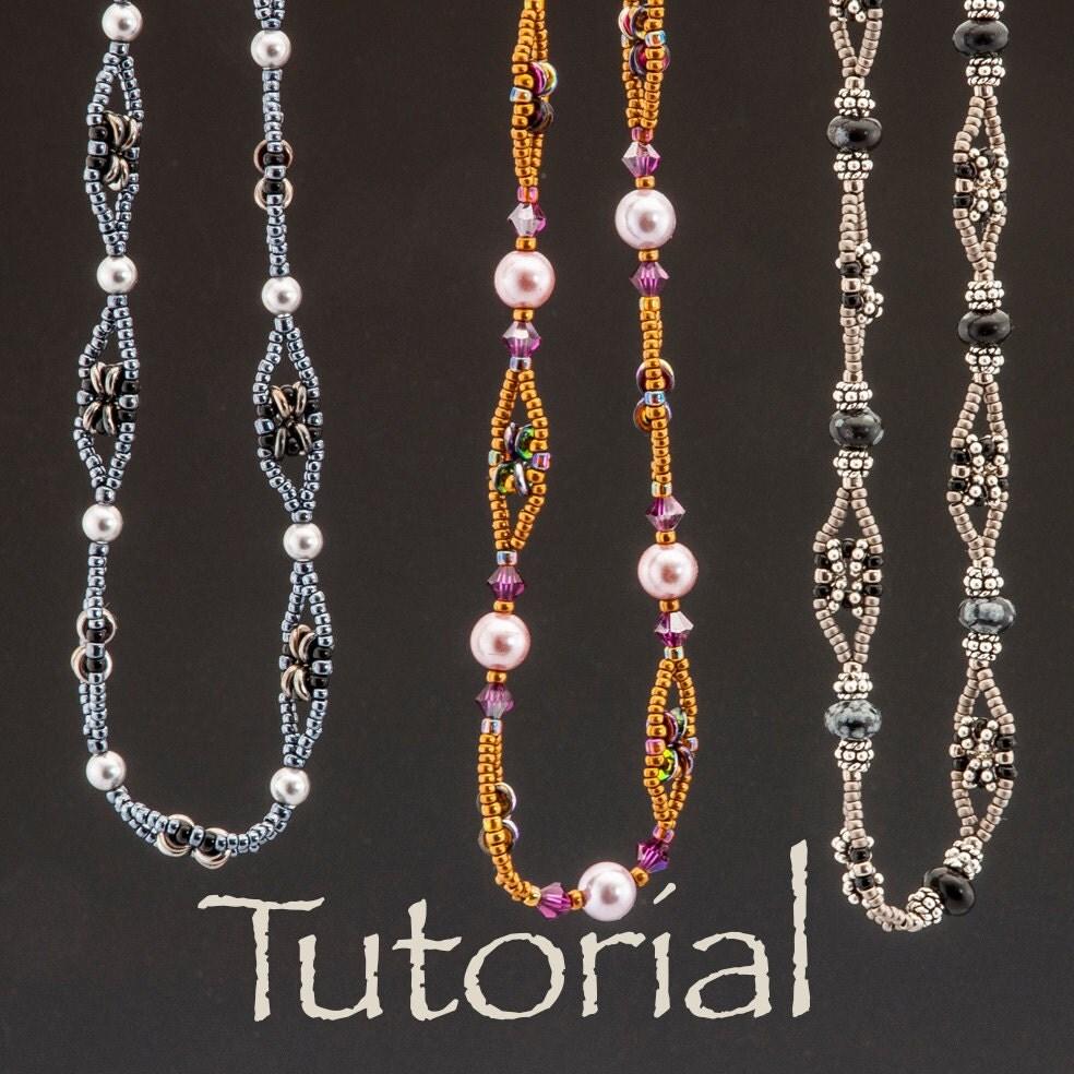 beaded chain tutorial o chain chain chain with o or