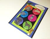 Irish Wolfhounds Silly Dog Magnet Set