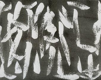 ORIGINAL work / Passionate Asphalt //  watermedia painting / ooak / ink