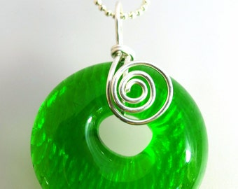Recycled Sundrop  Bottle Pendant