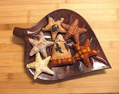 Primitive  Halloween  Candy Corn and Fall Star Ornament Bowl Filler Decorations