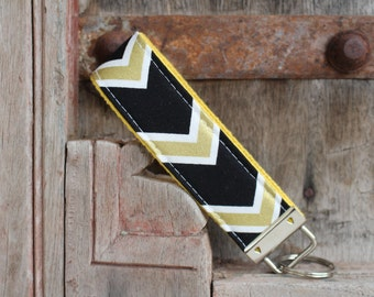 READY To SHIP-Beautiful Key Fob/Keychain/Wristlet-UCF on Yellow