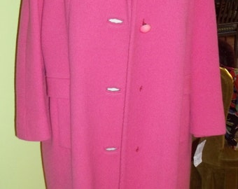 This ADORABLE Bubble Gum PINK Vintage Coat is Fit for a Fashionista
