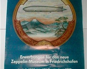 Graf Zeppelin Poster 1989 - Zeppelin  Museum of Friedrichshafen - Original Show Poster Dirigible Blimp Historical