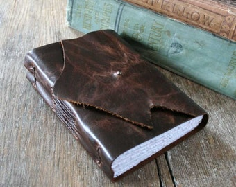 "Leather Journal . ""Accept no one's definition of your life, but define yourself"" - Harvey S. Firestone quote . handmade handbound (320pgs)"