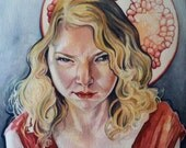 Custom Watercolor Portrait - Fine Art by Melissa Sue Stanley - 8x10 / A4