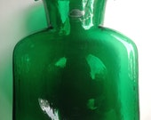 Green Glass Blenko Water Decanter